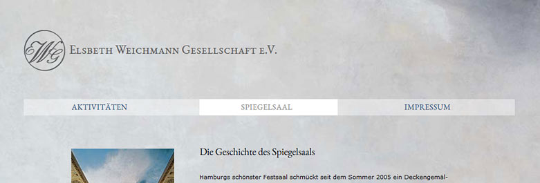 Spiegelsaal Website